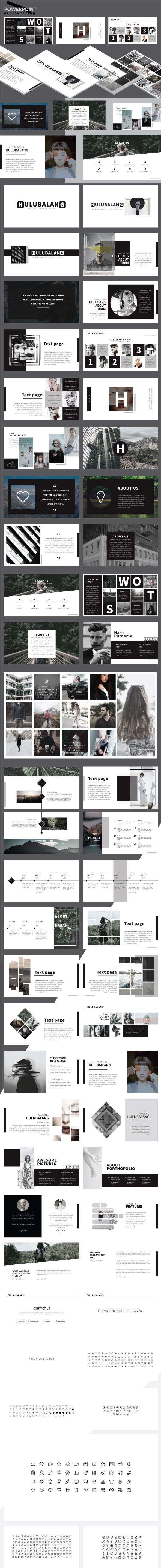HULUBALANG - Minimal Powerpoint Presentation - Business PowerPoint Templates
