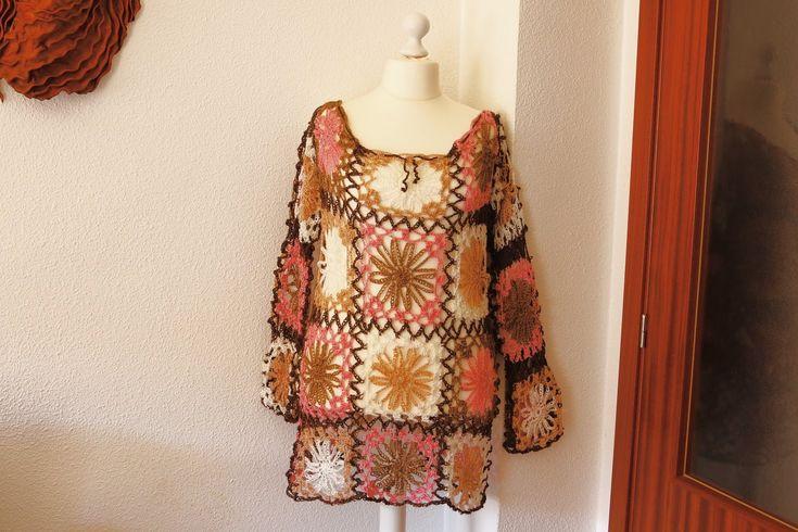 Como hacer vestido de playa a crochet.