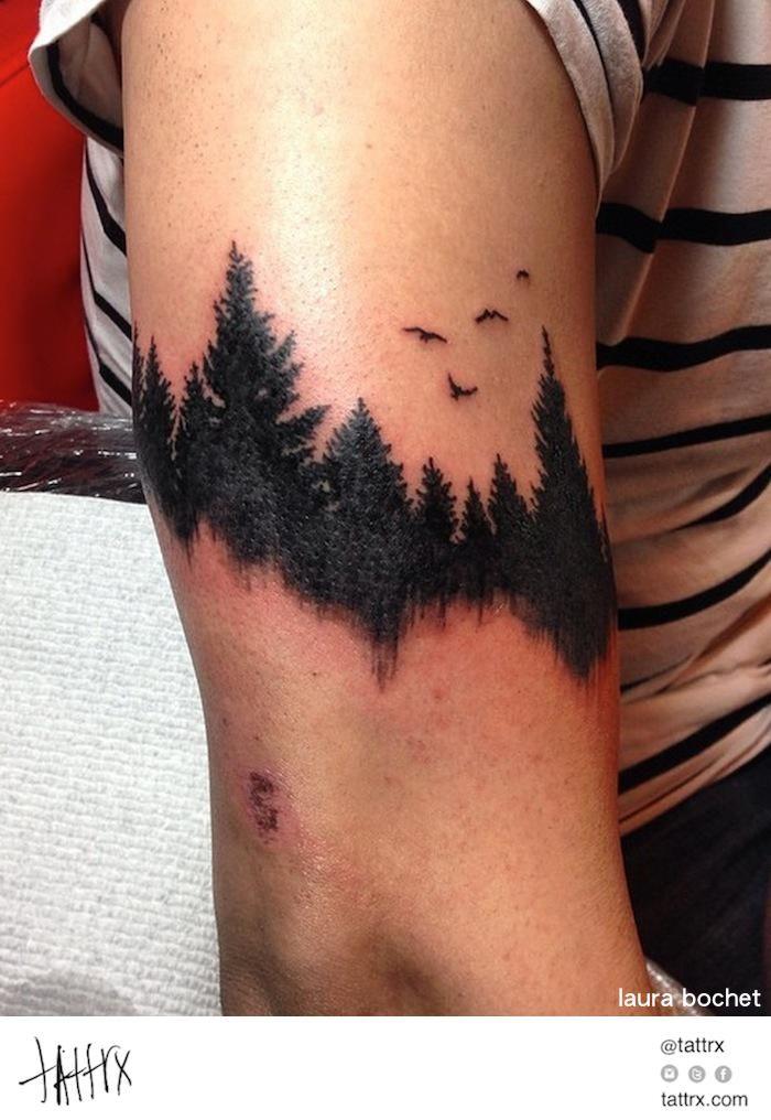 Laura Bochet Tattoo - Forest Arm Band | tattrx