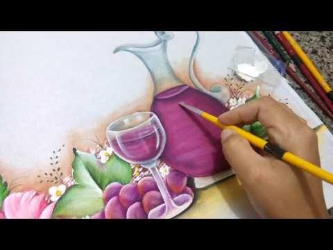 Como pintar jarra de vidro - transparência - pintura em tecido - YouTube