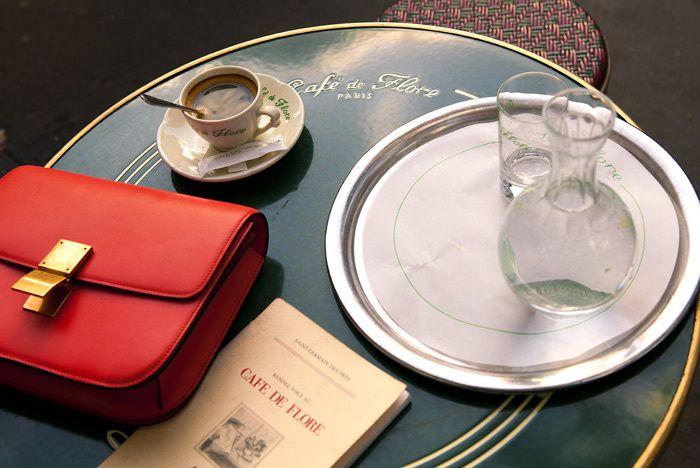 Café de Flore, bd Saint Germain