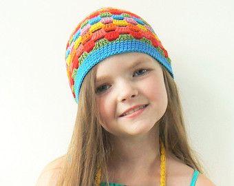 Equipo, servicio de Valet del ganchillo, lindo sombrero del ganchillo verano sombrero, arco iris, chicas Outfit, emparejar accesorios, pequeña bolsa, accesorios de verano, niños