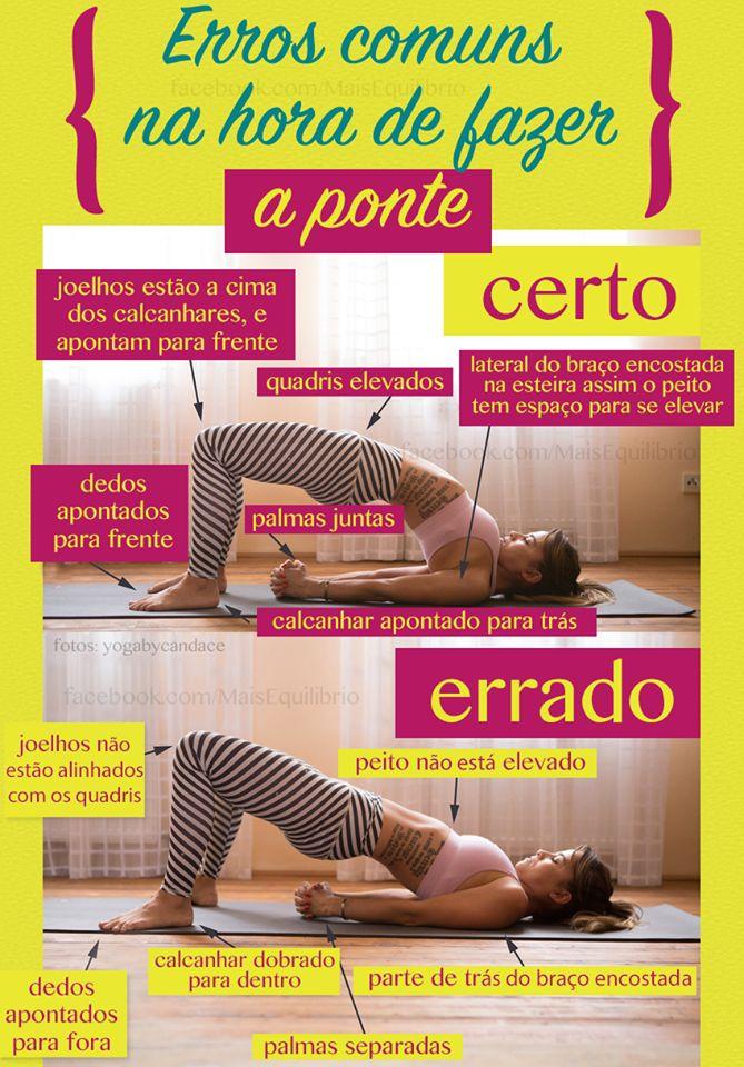 Na hora de praticar exercícios é muito importante seguir os movimentos da maneira correta para não prejudicar seu corpo! Fiquem atentos!