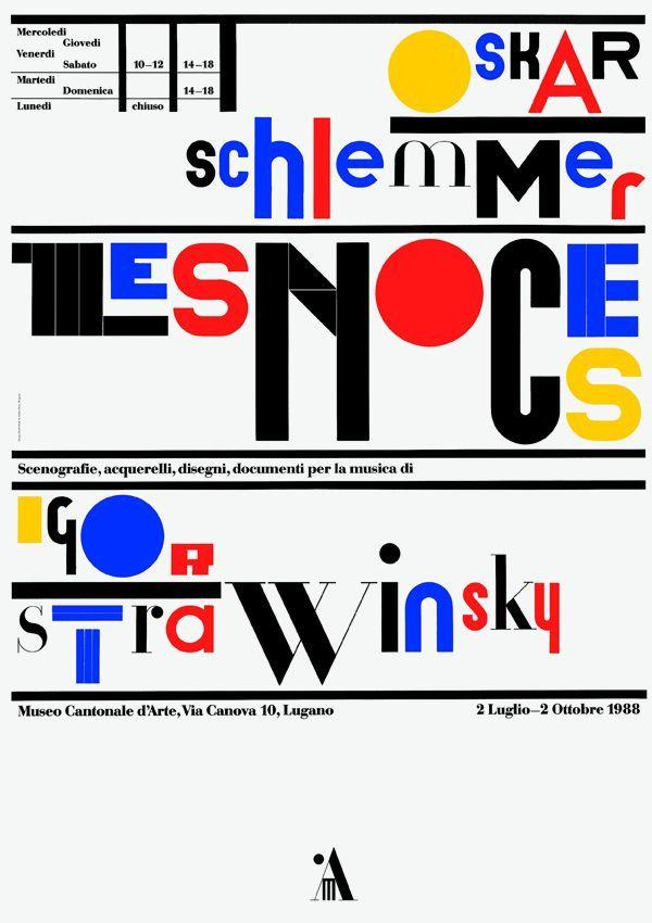 Original vintage poster LES NOCES SCHLEMMER STRAVINSKY 1988