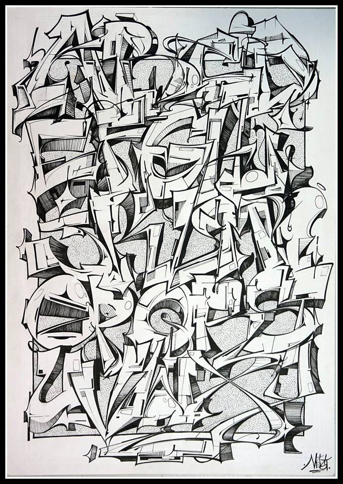Graffiti alphabet by Neist From graffart.eu