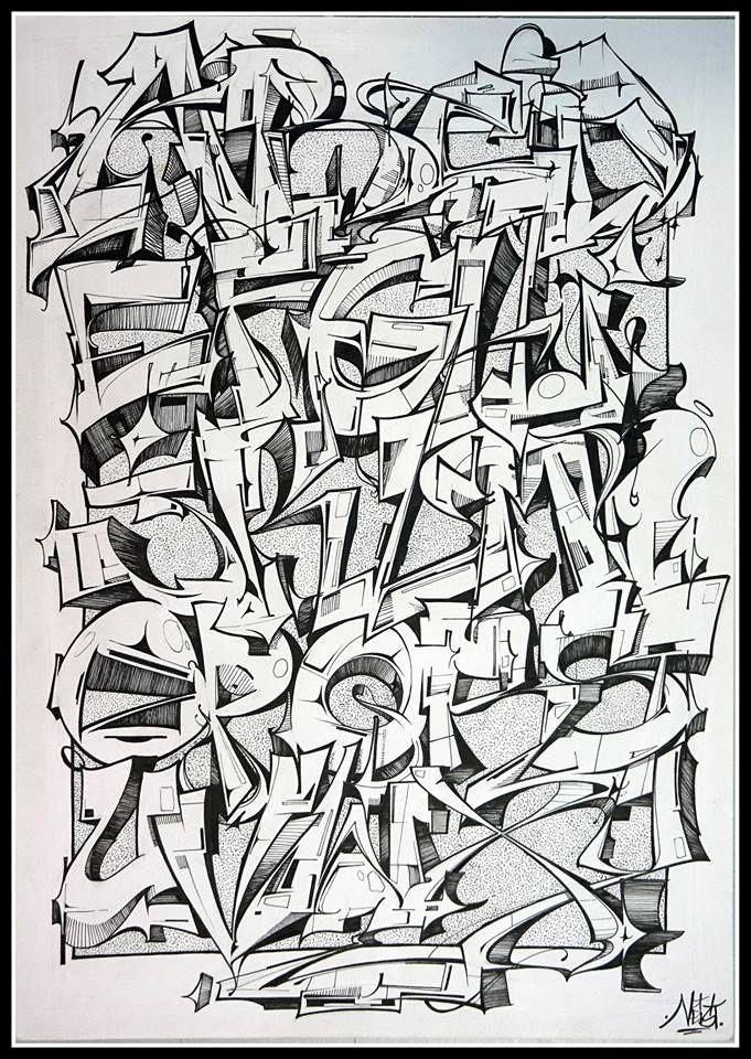 Graffiti alphabet by Neist From graffart.eu