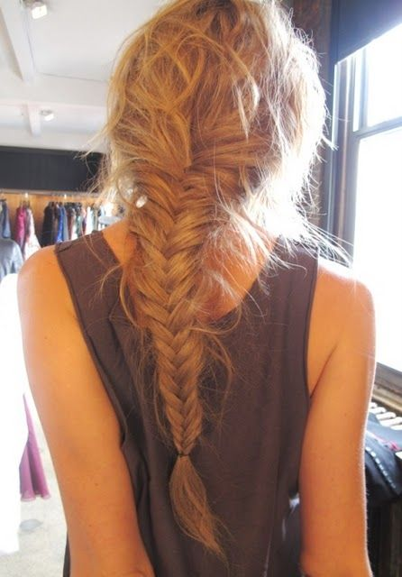 fishtail braids!! I had two lovely girls do one for me the other day.. Love it.. I wish i could do my own hair!! It's so long i stuff up half way through!