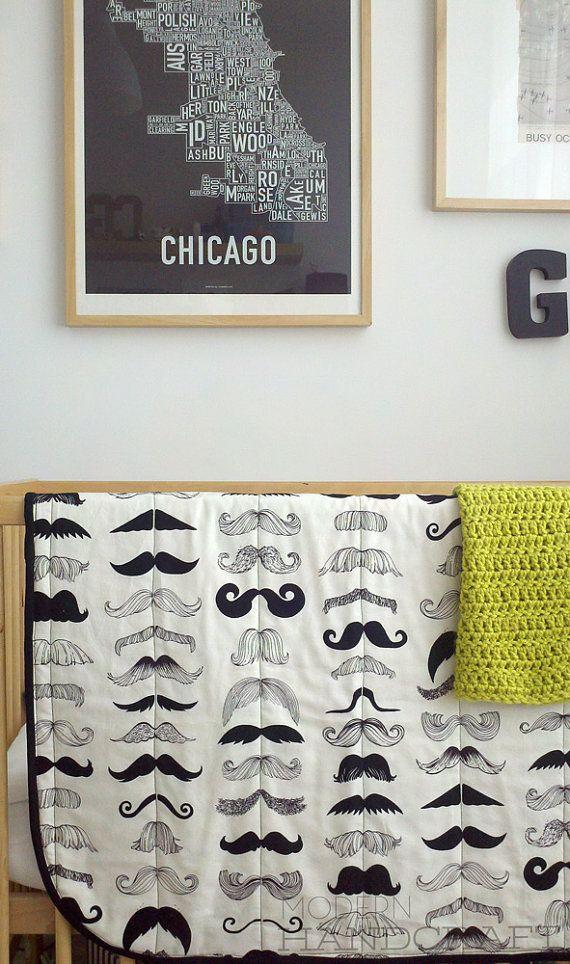 Little Mr Quilted Blanket  www.modernhandcraft.com