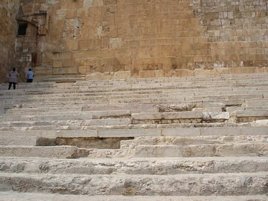 Steps to the temple in Jerusalem (south end of Temple Mount--1 of 2 places we know Jesus stepped