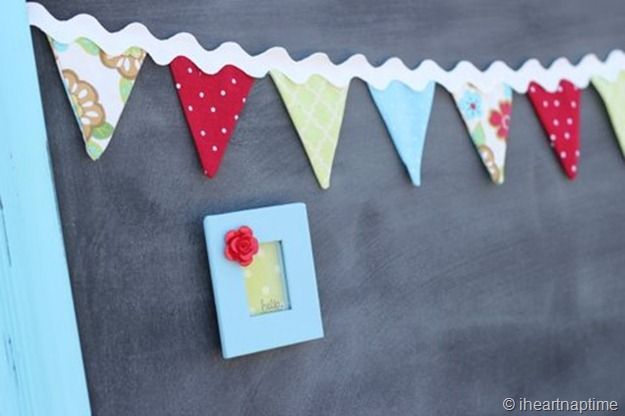 How to make Bunting - Pictured {TUTORIAL} | I Heart Nap Time - Easy recipes, DIY crafts, Homemaking