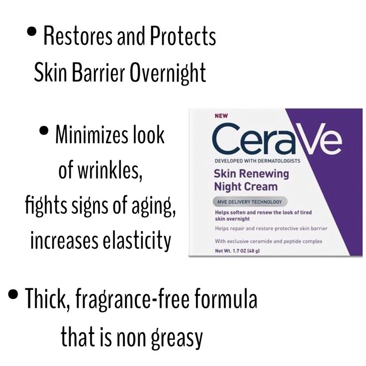 CeraVe Night Cream- hydrating, moisturizing, fragrance free skin care, fights aging and wrinkles @megbbeauty