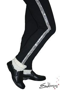 MJ-Michael-Jackson-Black-Billie-Jean-Entertainers-Straight-Silver-trousers-pants