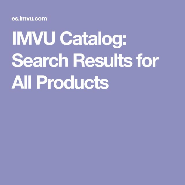 IMVU Catalog: Search Results for All Products