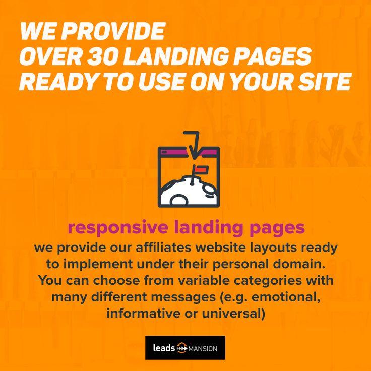 Thinking how to create effective #landingpage? 💰💰 Check 👉👉👉 https://leadsmansion.com/en/affiliates?utm_content=buffer554e1&utm_medium=social&utm_source=pinterest.com&utm_campaign=buffer We provide ready-to-use designs for our #affiliates🔧🔧 Also, for our best affiliates, we've got some bonus: even more landingpage and #e-mailmarketing designs!