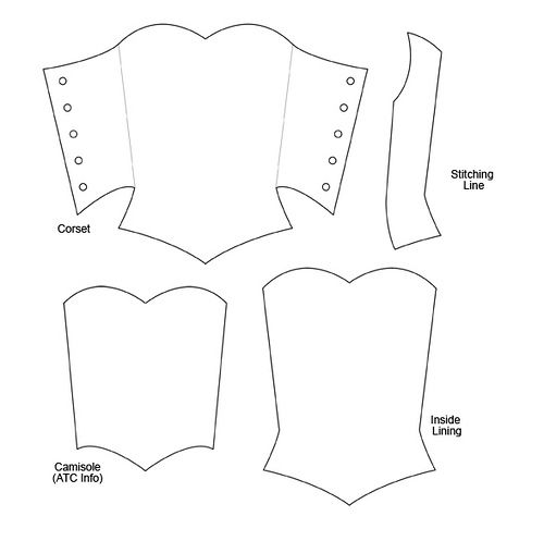 Corset ATC Template | Flickr - Photo Sharing!