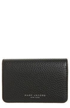 MARC JACOBS 'Gotham' Leather Card Case $95
