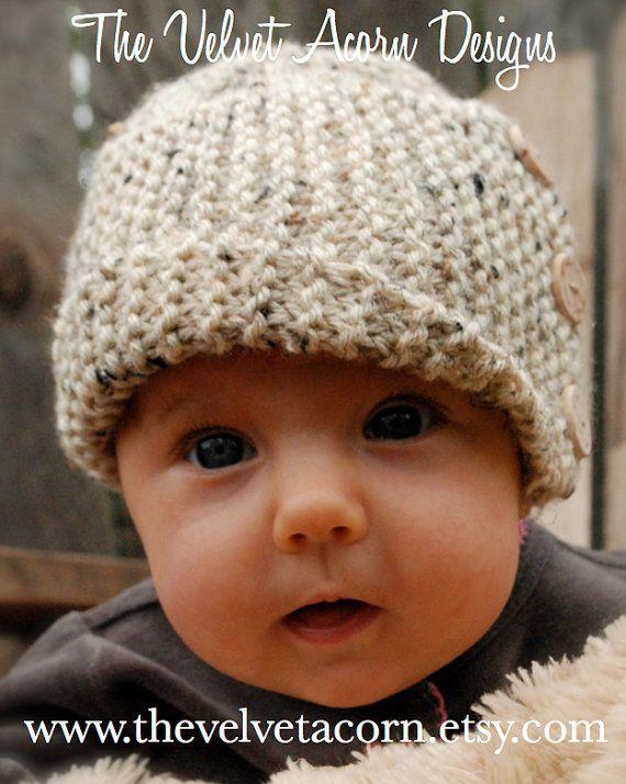 Knitting PATTERN-The Baby Poppy Cloche' by Thevelvetacorn on Etsy