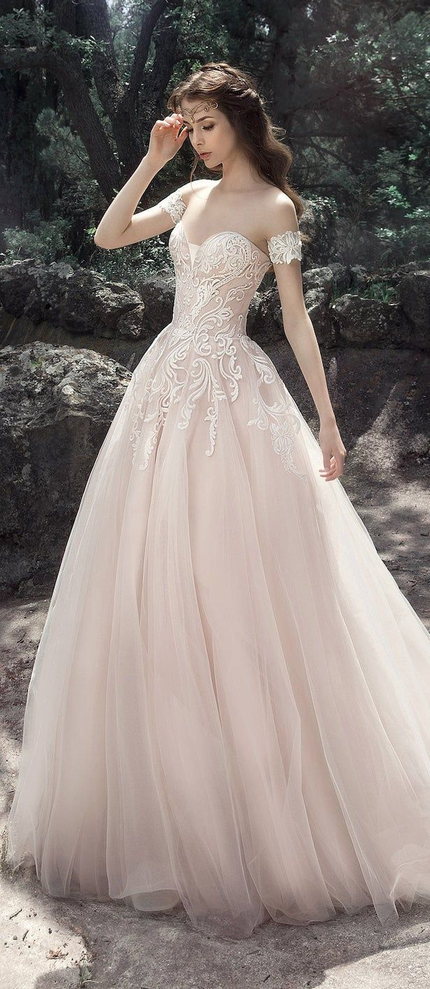 Milva 2017 Wedding Dress – Arwen Collection Maybe wouldn't have it in blush, ivory would look lovely. Still gorgeous though!