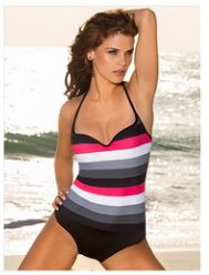 Tummy Slimming One-Piece Bathing Suit