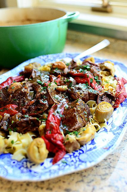 Italian Pot Roast w/ Artichokes & Roasted Peppers by Ree Drummond / The Pioneer Woman - this looks so good - I'll have to try!!!!