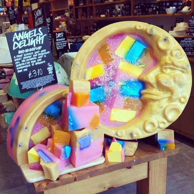 LUSH Angels Delight soap. look how pretty it is... i wouldnt want to cut it up!