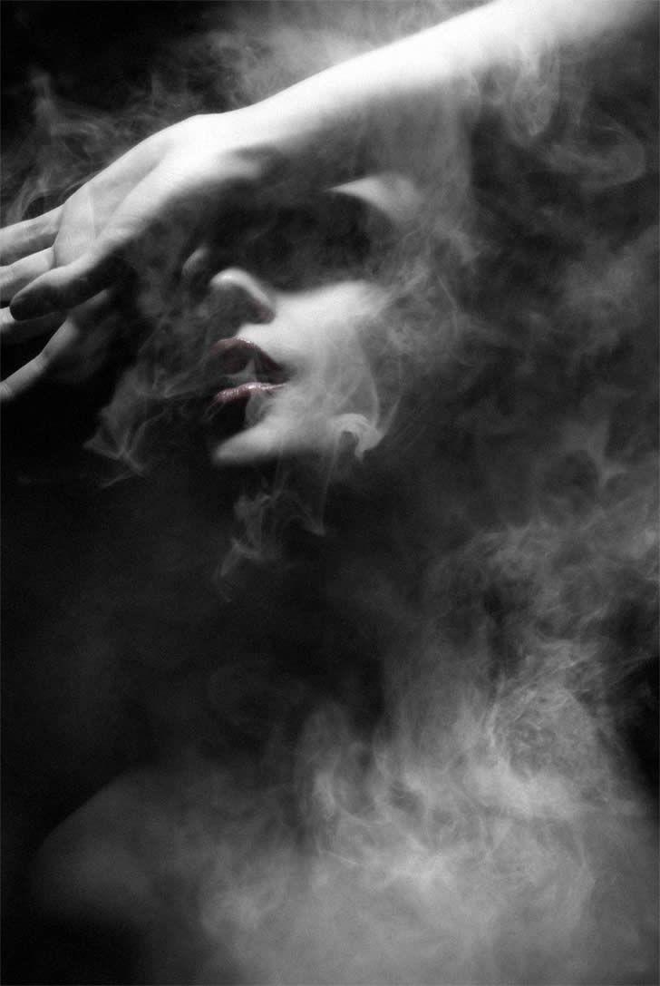 ☾ Midnight Dreams ☽ dreamy & dramatic black and white photography - Smoky Air - Federico Bebber