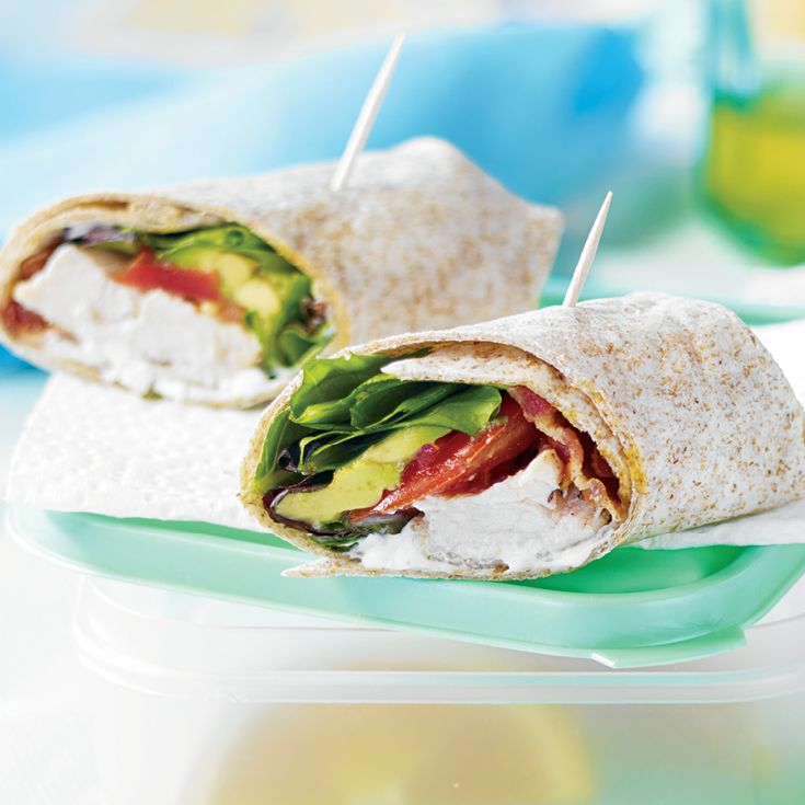 This Fresh Turkey Wrap #recipe has fibre and taste all wrapped up!