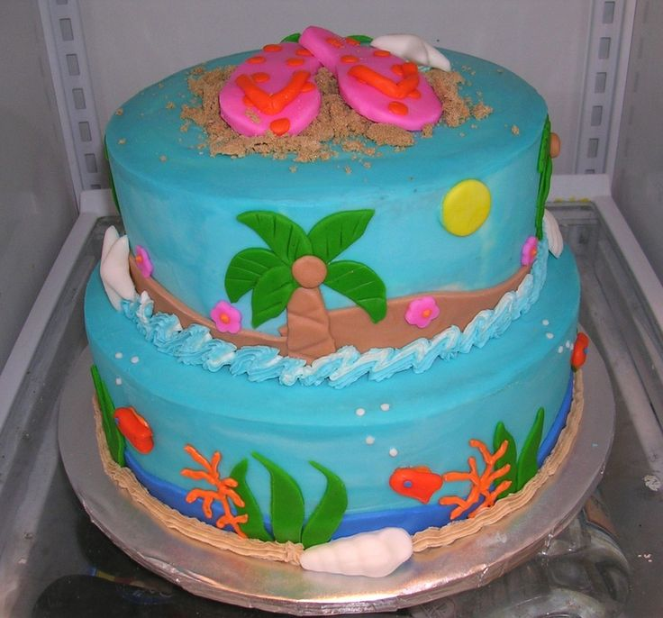 Birthday Cake Ideas Beach : The 25+ best Beach birthday cakes ideas on Pinterest ...
