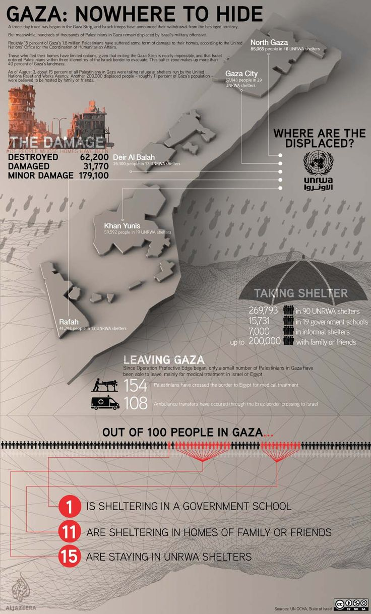 Infographic Gaza Nowhere To Hide | Infographics Creator