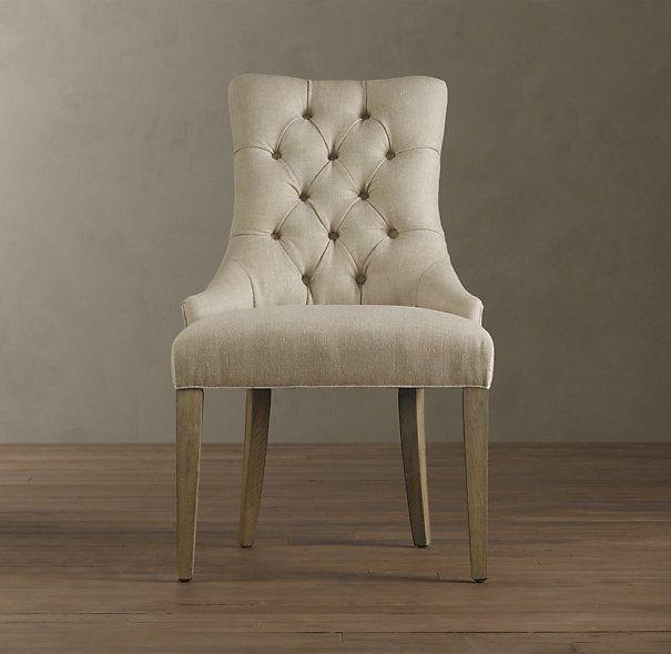 Dining Chair, Velvet And Dark Wood Legs