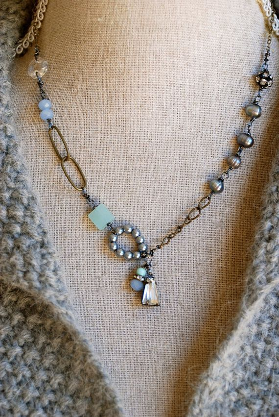 (via Vivian.romantic,baroque pearl,sea blue quartz,rhinestone … | Bejewe…)