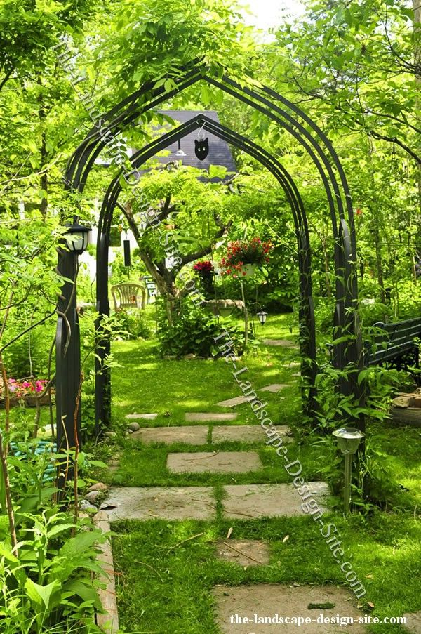 Iron Garden Arbor Outdoor Spaces Pinterest Gardens