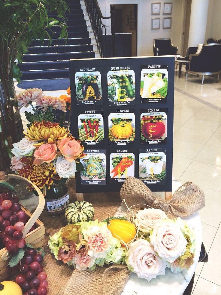 野菜の種♡ <結婚式エスコートカード・席札>個性的・オリエンタルなものまとめ一覧♪