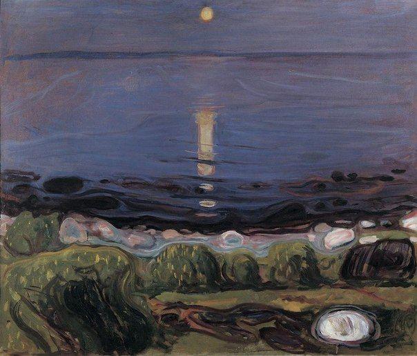 """Эдвард Мунк """"Летняя ночь на пляже""""  (1902-1903)"""