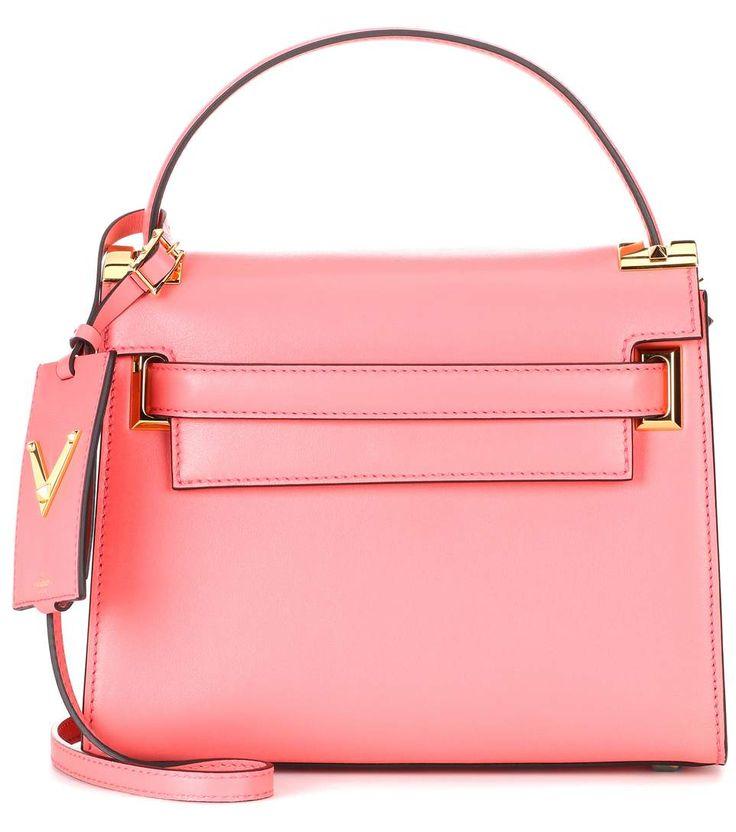 VALENTINO Valentino Garavani My Rockstud Mini Leather Shoulder Bag. #valentino #bags #shoulder bags #hand bags #leather #lining #