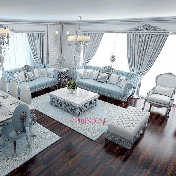 muhtesem-turkuaz-oturma-odasi-modelleri · Dekorasyon, Ev Dekorasyonu, Ev Tasarımı Döşemesi | Dekorasyon, Ev Dekorasyonu, Ev Tasarımı Döşemesi