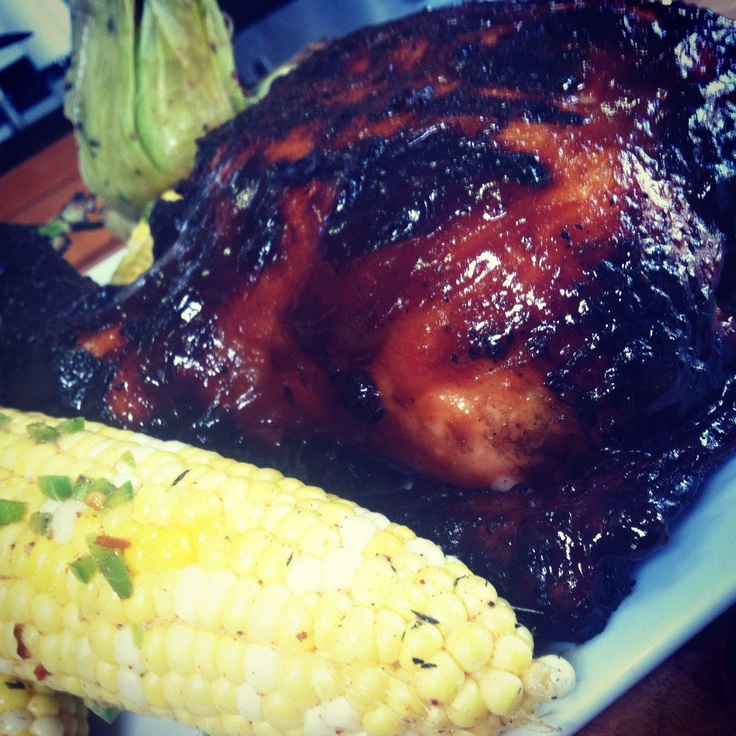 Apple Cider and Brown Sugar Basted Whole BBQ Chicken with Spicy ...