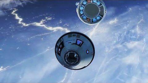 CST-100 ist eine Raumfähre von Boeing, die künftig Astronauten zur ISS und…