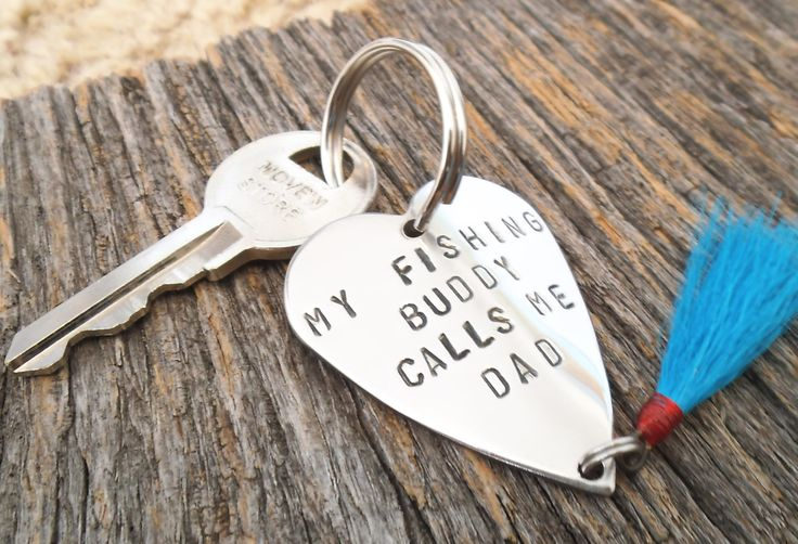 Father's Day Keychain for Husband Fathers Day Gift New Dad My Fishing Buddy Calls me Dad Fishing Lure Keychain for Men Fathers Day from Wife by CandTCustomLures on Etsy