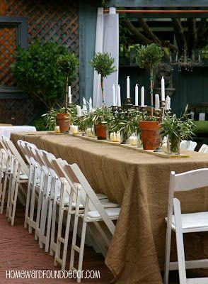 Easy, Elegant Fall party decor, shared by HOMEWARDfound Decor
