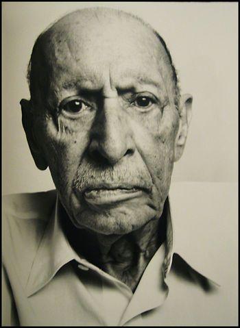 Richard Avedon (1971) last portrait of composer Igor Stravinsky.