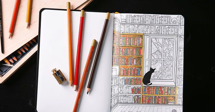 Notebook With Colored Pages