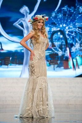 Miss Poland, Marcelina Zawadzka, performs onstage at the 2012 Miss Universe National Costume Show 12-19-2012