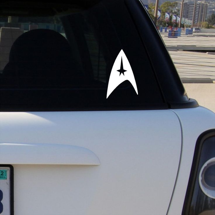 STAR TREK LOGO Vinyl Decal Car Window Bumper Sticker Emblem Symbol #CustomVinylSignandDecal #DieCutVinyl