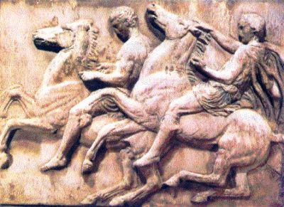 Ιππείς από την πομπή στη ζωφόρο του Παρθενώνα Αθήνα, Μουσείο Ακροπόλεως