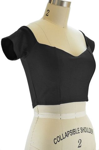 j.d. bad girl ultra crop top - black - FINAL SALE | le bomb shop