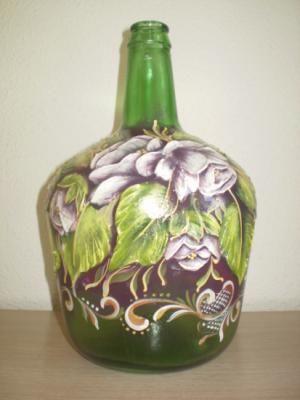 Pintura pasta and google on pinterest - Jarrones de cristal decorados ...