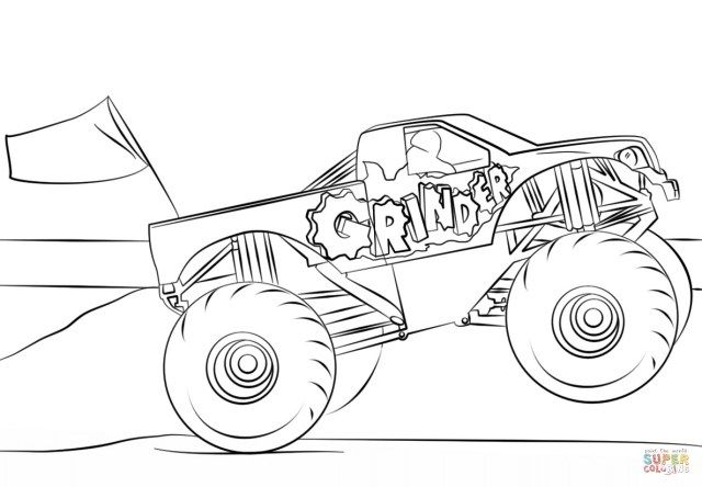 30 Creative Photo Of Monster Truck Coloring Pages Monster Truck