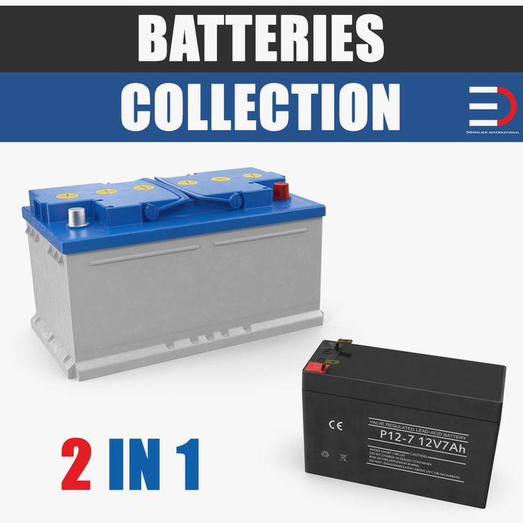 Batteries Collection 3D