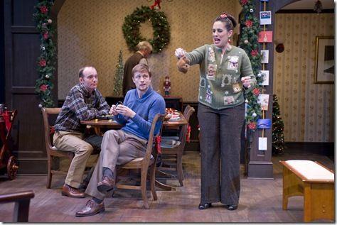 Eddie (John Byrnes), Neville (Matt Schwader) and Phyllis (Amy J. Carle)